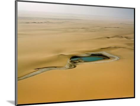 When There is Rain Water Accumulates in the Desert E of the Air Mtns, Niger-Michael Fay-Mounted Photographic Print