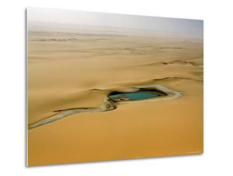 When There is Rain Water Accumulates in the Desert E of the Air Mtns, Niger-Michael Fay-Metal Print