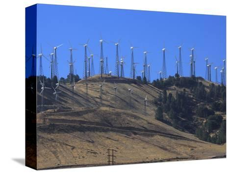 Wind Turbines for Electric Power, California-George Grall-Stretched Canvas Print