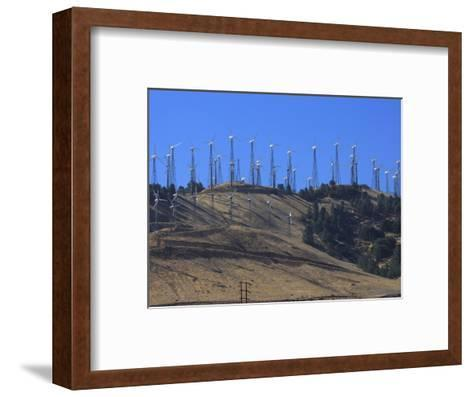 Wind Turbines for Electric Power, California-George Grall-Framed Art Print