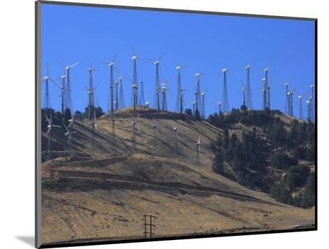 Wind Turbines for Electric Power, California-George Grall-Mounted Photographic Print