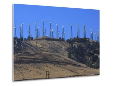 Wind Turbines for Electric Power, California-George Grall-Metal Print