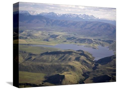 Williams Fork Reservoir Provides Water for Denver 70 Miles Away, Colorado-Michael S^ Lewis-Stretched Canvas Print
