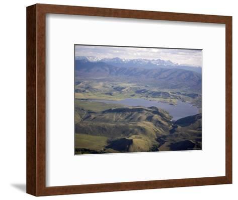 Williams Fork Reservoir Provides Water for Denver 70 Miles Away, Colorado-Michael S^ Lewis-Framed Art Print