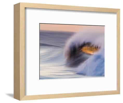 Waves Breaking Before Sunrise at Emma Wood State Beach, Ventura, California-Rich Reid-Framed Art Print