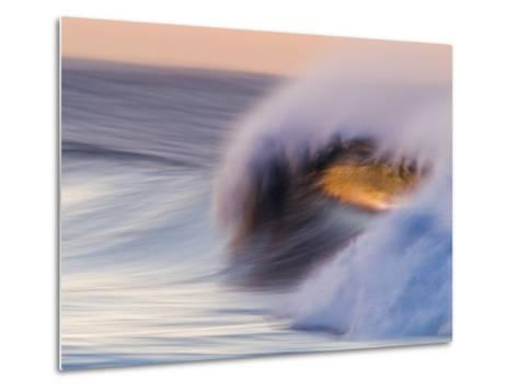 Waves Breaking Before Sunrise at Emma Wood State Beach, Ventura, California-Rich Reid-Metal Print