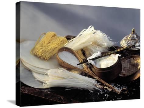 Assorted Asian Noodles and Rice-Susie M. Eising-Stretched Canvas Print