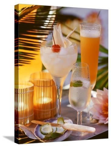 Caribbean Drinks with Rum: Ti Punch, Ti Doudou & Rum Sour--Stretched Canvas Print