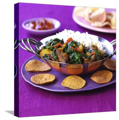 Lamb Curry with Spinach and Rice-Frank Wieder-Stretched Canvas Print