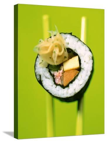Maki-Sushi with Crabmeat, Scrambled Egg and Tuna-Hartmut Kiefer-Stretched Canvas Print