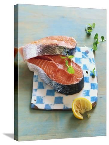 Two Salmon Cutlets-Matthias Hoffmann-Stretched Canvas Print