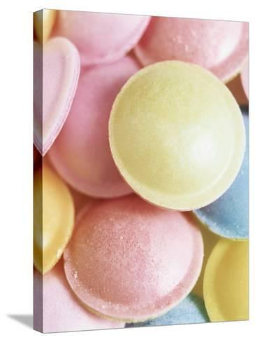Pastel-Coloured Flying Saucers-Sam Stowell-Stretched Canvas Print