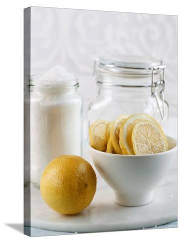 Ingredients for Salt-Pickled Lemons-Danya Weiner-Stretched Canvas Print