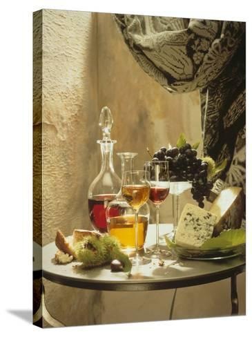 Dessert Wines for a Selection of Cheeses--Stretched Canvas Print