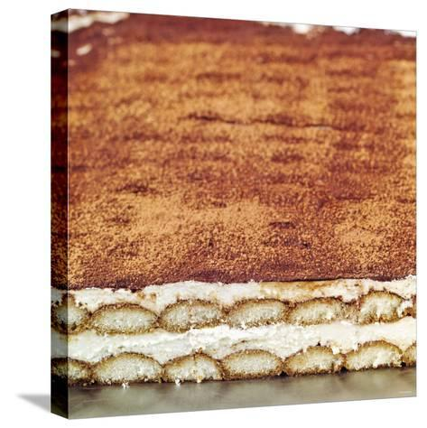 Tiramisu (Layered Dessert with Mascarpone Cream, Italy)--Stretched Canvas Print