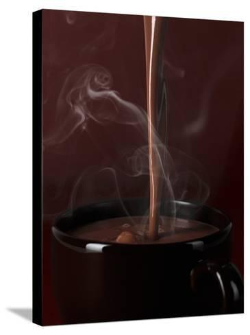 Pouring Hot Chocolate into a Cup-Armin Zogbaum-Stretched Canvas Print