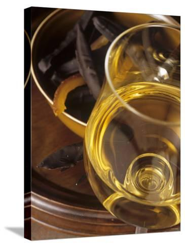 A Glass of Vin de Paille (Sweet Wine, France)-Jean-charles Vaillant-Stretched Canvas Print