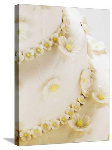 A Tiered Wedding Cake--Stretched Canvas Print