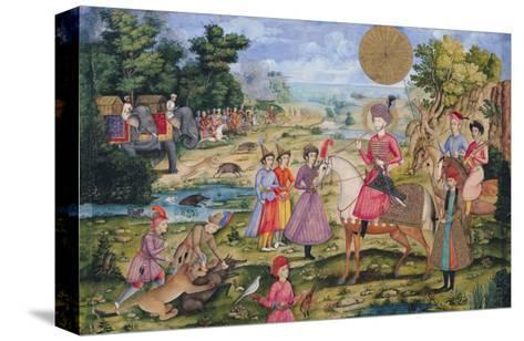 Royal Hunt, from Isfahan, Iran--Stretched Canvas Print