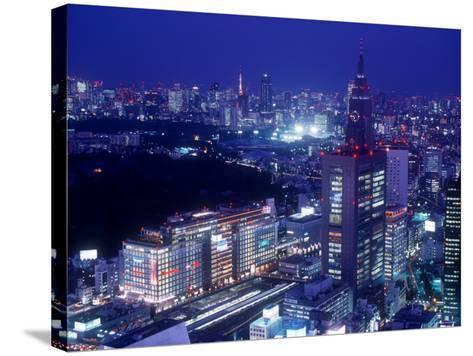 Night View of Shinjuku--Stretched Canvas Print