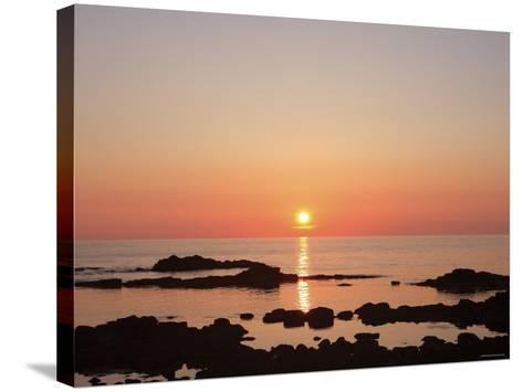 Sunset at the Sea--Stretched Canvas Print