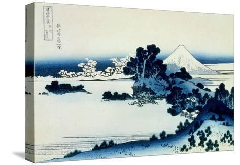 36 Views of Mount Fuji, no. 13: Shichiri Beach in Sagami Province-Katsushika Hokusai-Stretched Canvas Print