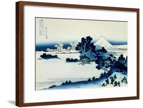 36 Views of Mount Fuji, no. 13: Shichiri Beach in Sagami Province-Katsushika Hokusai-Framed Art Print