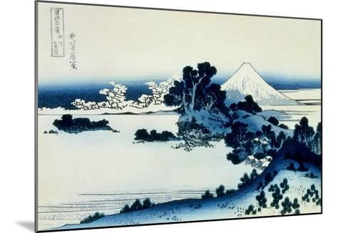 36 Views of Mount Fuji, no. 13: Shichiri Beach in Sagami Province-Katsushika Hokusai-Mounted Giclee Print