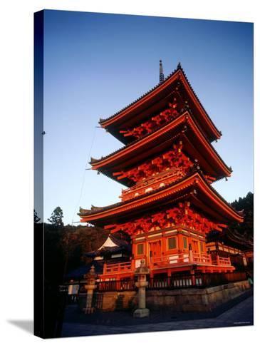 Three-Story Pagoda of Kiyomizu Temple (Kiyomizudera), Kyoto, Japan,--Stretched Canvas Print