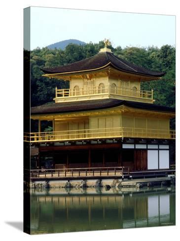 Kinkaku (Golden Pavillion) in the Garden of Rokuon-Ji Temple, Kyoto, Japan--Stretched Canvas Print