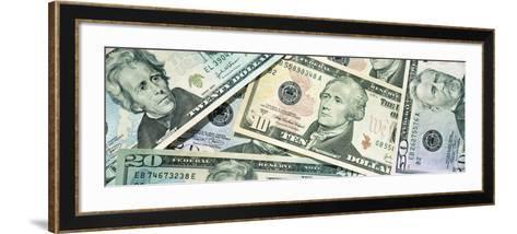 Dollar Bills--Framed Art Print