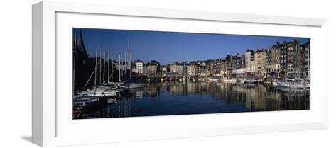Boats Docked at a Harbor, Honfleur, Normandy, France--Framed Art Print