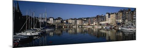 Boats Docked at a Harbor, Honfleur, Normandy, France--Mounted Photographic Print