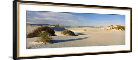 Desert Plants in White Sands National Monument, New Mexico, USA--Framed Art Print