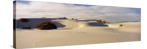 Clouds over Sand Dunes, White Sands National Monument, New Mexico, USA--Stretched Canvas Print