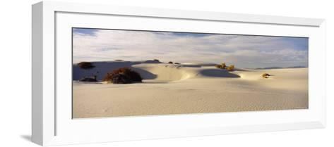Clouds over Sand Dunes, White Sands National Monument, New Mexico, USA--Framed Art Print