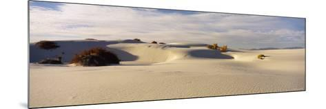 Clouds over Sand Dunes, White Sands National Monument, New Mexico, USA--Mounted Photographic Print