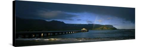 Rainbow over the Sea, Hanalei, Kauai, Hawaii, USA--Stretched Canvas Print