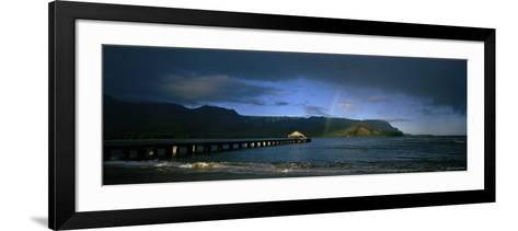 Rainbow over the Sea, Hanalei, Kauai, Hawaii, USA--Framed Art Print