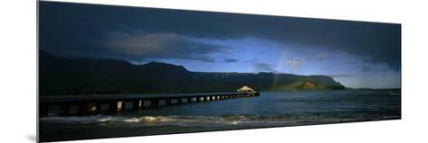 Rainbow over the Sea, Hanalei, Kauai, Hawaii, USA--Mounted Photographic Print