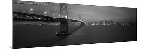 Bay Bridge Lit Up at Night, San Francisco, California, USA--Mounted Photographic Print