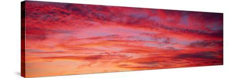 Oahu at Sunset, Hawaii, USA--Stretched Canvas Print