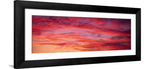 Oahu at Sunset, Hawaii, USA--Framed Art Print