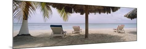 Lounge Chairs on 7-Mile Beach, Negril, Jamaica--Mounted Photographic Print