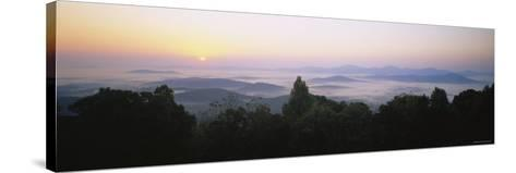 Mountains of Rockfish Gap, Blue Ridge Mountains of Virginia, USA--Stretched Canvas Print