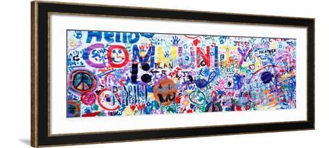 Close-Up of a Hand Painted Community Banner, Eureka, California, USA--Framed Art Print
