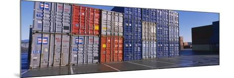 Cargo Containers on a Commercial Dock--Mounted Photographic Print