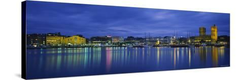 Buildings at the Waterfront, City Hall, Oslo, Norway--Stretched Canvas Print