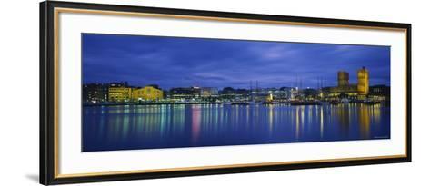 Buildings at the Waterfront, City Hall, Oslo, Norway--Framed Art Print