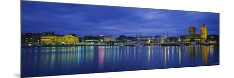 Buildings at the Waterfront, City Hall, Oslo, Norway--Mounted Photographic Print